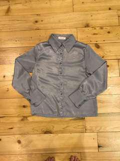 Silk formal blouse