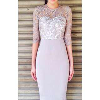 Doublewoot Lace Grey Dress