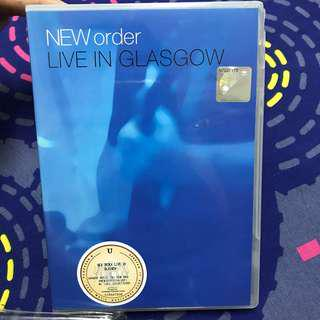 NEW ORDER - LIVE IN GLASGOW DVD