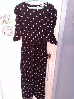 ❗Repriced❗Authentic H&M Long polka dots dress