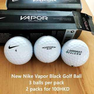 New Nike Vapor Black Golf Ball Pack