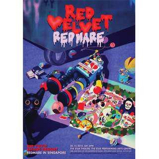 WTS A Pair of Red Velvet REDMARE CAT 1 concert tickets #REDMAREINSG