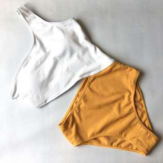 One Piece Cut Out Swimwear