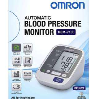 Automatic Omron BP Monitor - HEM 7130 - 60 Memories with Date and Time - Brand New!