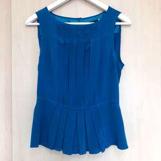 Marc by Marc jacobs blue silk top