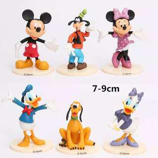 Mickey Minnie Mouse Goofy Donald Daisy Duck Disney Cake Toppers / Figurines