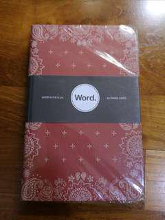 Word. Notebooks, Red Bandana Limited edition.
