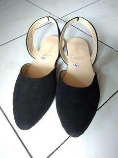 Sepatu Flat / Flat Shoes Hitam, WANITA #kirimgratis