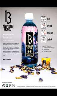 🚚 Butterfly-pea Tea with Honey