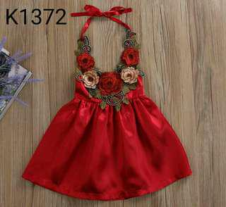 3D FLOWER DRESS K1372