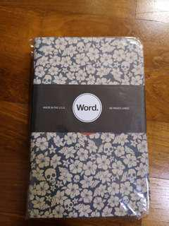 Word. Notebooks, Blue Floral Limited Edition.