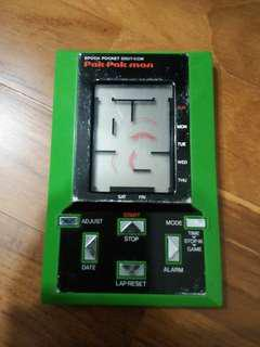 IN GOOD CONDITION! 80s Retro Epoch LCD Game Watch Pak Pak Man (Pacman)