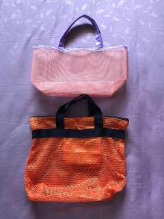 👛 2 Small All Purpose Mesh Bags [FREE POSTAGE].