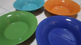 """Colorful 8"""" bowl plate set of 5"""