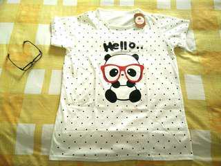 Terusan Baju Tidur Putih PandaLucu