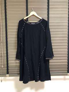 Joyeus Black Studded Dress