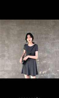 🚚 韓版顯瘦洋裝 氣質 簡約 短袖洋裝