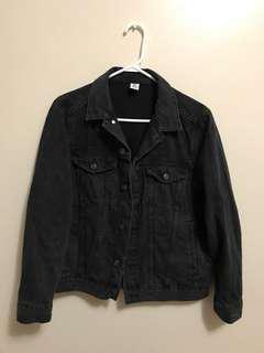 H&M Conscious Women Denim Jacket (Black Denim)
