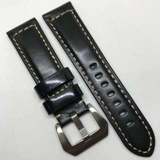 Premium Grade 22mm Watch Strap Black Colour Genuine Leather
