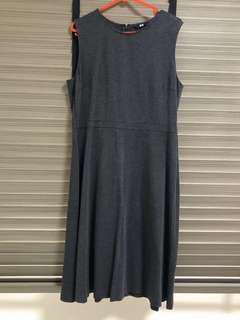 Sleeveless Grey Dress Uniqlo