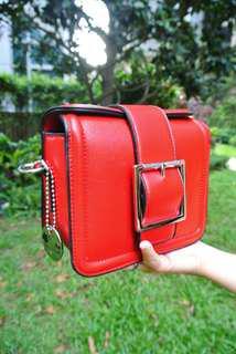 代理T.U. Handbag Korea Style Red Sharp  韓系 女裝 手袋 女包 小包 型格 紅色 輕便易襯 201 hothot