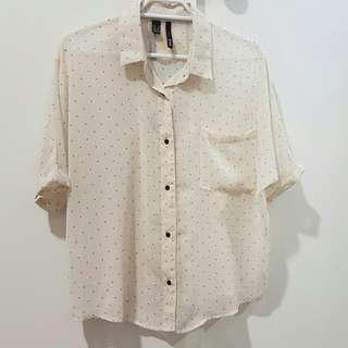 MNG Sheer Top Shirt size S