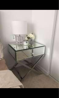Mirrored nightstand tables/ side tables