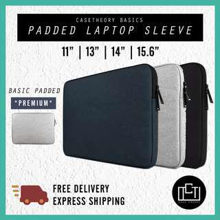 🚚 🔅cT🔅 BASIC Laptop Cover ZIP Sleeve With inner padding laptop casing bag