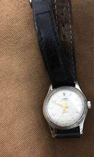 ORIS 7446 vintage 女錶紅寶石古董皮革帶機械錶 星月(請出價)