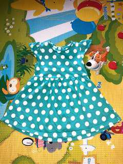 Mothercare Polka Dot Dress in Mint 9-12M