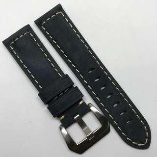 Premium Grade 22mm Watch Strap Navy Blue Colour Genuine Suede Leather