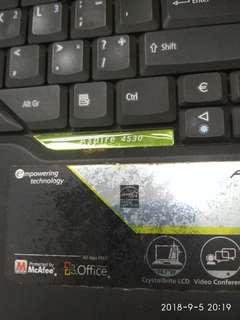 laptop acer aspire 4530 faulty