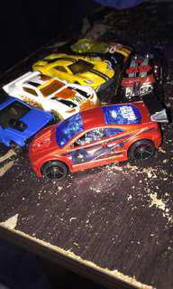 Hotwheel collections for 6 cars