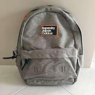 Brand New Superdry 'Super Trinity Montana' Grey Backpack
