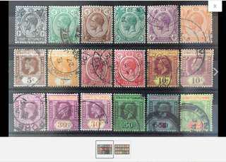 Malaya 1921-33 Straits Settlement KGV 18V Used MSCA M1632 Z