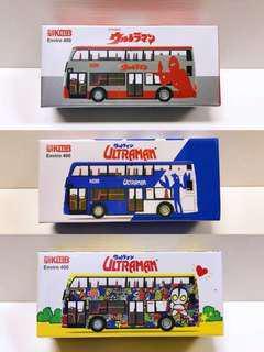 絕版 全新未拆 Tiny 微影 咸蛋超人 E400 巴士 一套三款