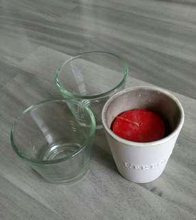 L'erbolario IKEA Galej Glass Ceramic Tealight Candle Holder
