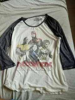 Marvel The Defenders Raglan shirt Imported
