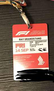 FRIDAY F1 Bay Grandstand ticket + Jay Chou concert