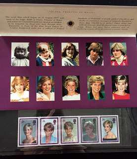 Diana, Princess of Wales Presentation Pack Mint with 5V Setenant