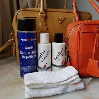 APPLE Cleaner & Conditioner & Apple Garde Rain and Stain Repellent