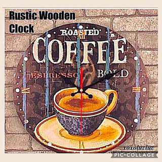 Scandinavian Wooden Clock -Cafe design