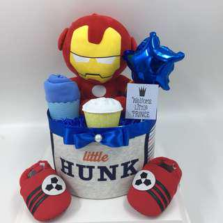 Ready stock! Iron man Baby Diapers Cake