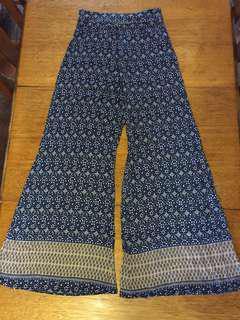 Hippy boho wide leg pants