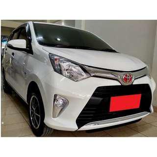 Toyota Cayla G AT 2016 Putih DP 8,9 Jt No Pol Ganjil