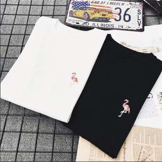 🚚 BN 95% Cotton Material Black Flamingo T-Shirt (September Promo!)