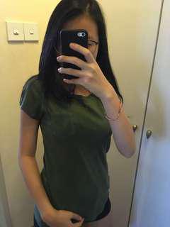 Army Green New York Tee Top Shirt