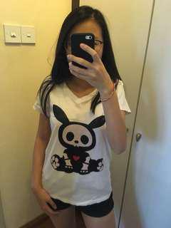 Bunny Graphic Top Tee Shirt