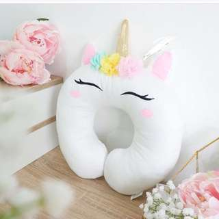 Unicorn Bantal Leher Neck Pillow (female)