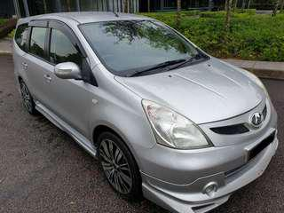 2012 Nissan Grand Livina 1.6 Impul(M) Titptop Condition